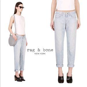 Rag and Bone Light Wash Boyfriend Jeans
